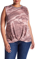 Hip Sleeveless Camo Tee (Plus Size)