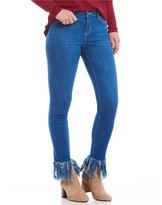 Jessica Simpson Kiss Me Long Fray Ankle Skinny Jeans