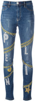 Philipp Plein chain detail skinny jeans - women - Cotton/Spandex/Elastane - 28