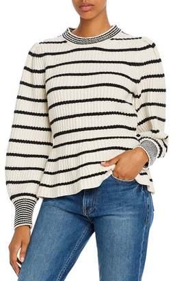 Rebecca Taylor Striped Peplum Sweater - 100% Exclusive