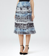 Reiss Rockie Printed Midi Skirt