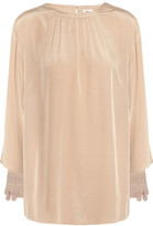Temperley London Ravenna Bette embroidered silk top