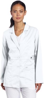 Dickies Women's Gen Flex Junior Fit Contrast Stitch Lab Coat