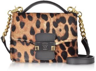 Ghibli Leopard Printed Haircalf Leather Small Shoulder Bag