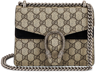 Gucci Dionysus GG Shoulder Bag in Beige Ebony & Black | FWRD