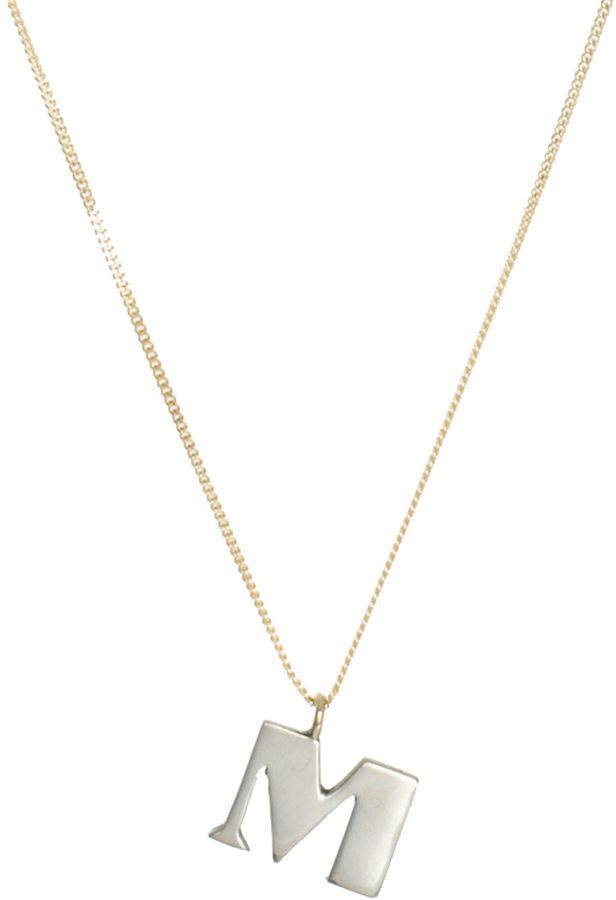 Laura Lee Jewellery M Letter Necklace