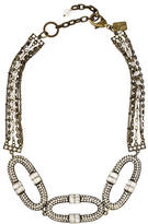 Badgley Mischka Crystal Link Necklace