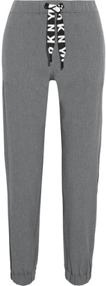 DKNY Cropped Mesh-trimmed Stretch-shell Track Pants