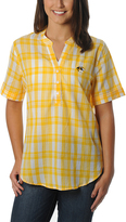 Missouri Tigers Plaid Button-Front Top - Women