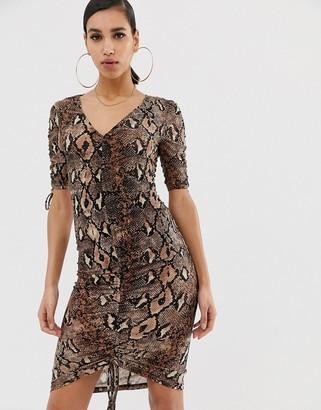 AX Paris snake print slinky dress