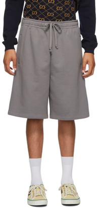 Gucci Grey Cotton Jersey Shorts