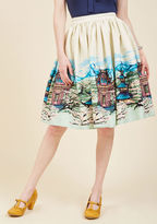 Collectif Made By Imagination Midi Skirt in Pagoda in XS