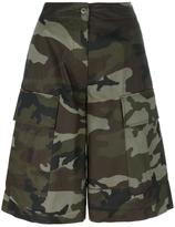 MM6 MAISON MARGIELA camouflage print shorts - women - Cotton - 38