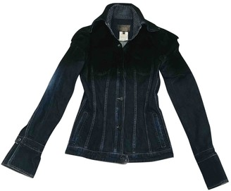 Gianfranco Ferre Blue Cotton Jacket for Women