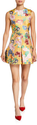 Valentino Romantic Brocade Sleeveless Fit-&-Flare Dress