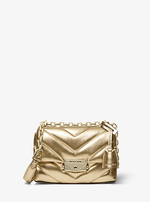 Michael Kors Cece Extra-Small Quilted Metallic Leather Crossbody Bag