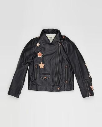 Scotch R'Belle Leather Biker Jacket with Fringes - Teens