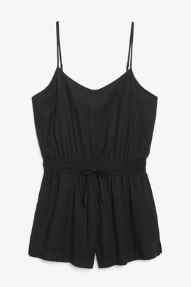 Monki Spaghetti strap playsuit