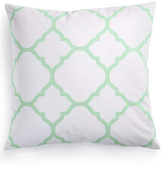 "Charter Club Damask Designs Geometric 18"" Square Decorative Pillow, Bedding"