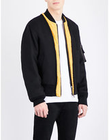 Maison Margiela Contrast-lapels Wool Bomber Jacket