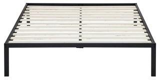 Overstock Sleeplanner 14 Inch Platform Metal Bed Frame / Wooden Slat Support Full Size
