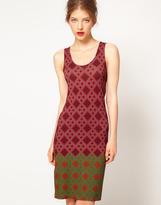 Printed Jersey Tank Dress