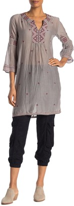 Johnny Was Ava Embroidered 3/4 Sleeve Tunic