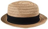 STUDIO W Pleated Straw Hat