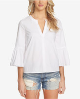 1 STATE 1.STATE Split-Neck Bell-Sleeve Top