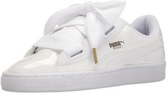 Puma Women's Basket Heart Patent WN's Sneaker White 8 M US