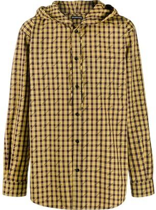 Balenciaga Checked Hooded Shirt