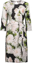 ADAM by Adam Lippes Karate belted floral-print crepe de chine dress