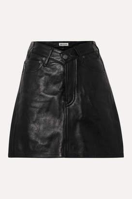 Balenciaga Textured-leather Mini Skirt - Black