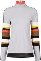 NO KA 'OI No Ka'Oi Grey Colour Block Long Sleeve Top