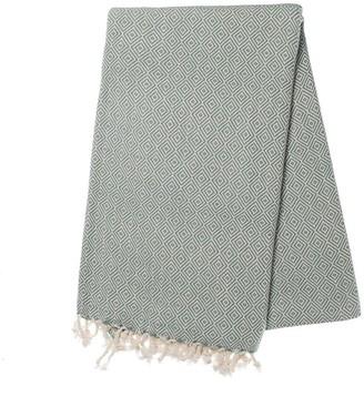 Slate & Salt Diamond Sea Green Turkish Towel