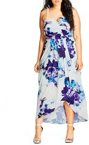 City Chic Blue Bloom Maxi Dress