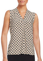 Tommy Hilfiger Diamond-Print Shell