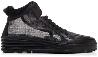 Fendi FF Mesh Panelled Sneakers
