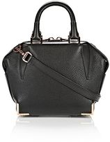 Alexander Wang Mini Emile In Pebbled Black With Rose Gold