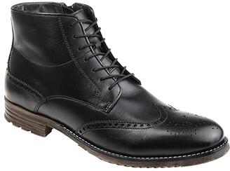 Thomas & Vine Ryker Wing Tip Boot (Black) Men's Shoes