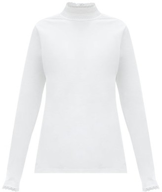 Chloé C-lace Long-sleeved Cotton T-shirt - White