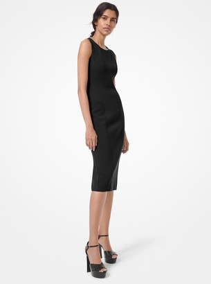 Michael Kors Collection Stretch Wool Boucle Sheath Dress