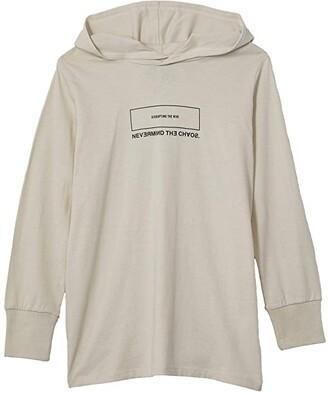 Cotton On Jackson Hooded Long Sleeve Tee (Toddler/Little Kids/Big Kids) (Rainy Day/Rebellion) Boy's Clothing