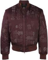 Yang Li printed typography bomber jacket