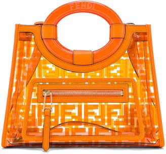 Fendi Mini Runaway Shopping Logo Tote in Orange | FWRD