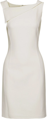 Oscar de la Renta Draped Wool-blend Crepe Mini Dress