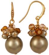 Carolee Cluster Simulated Pearl Drop Earrings