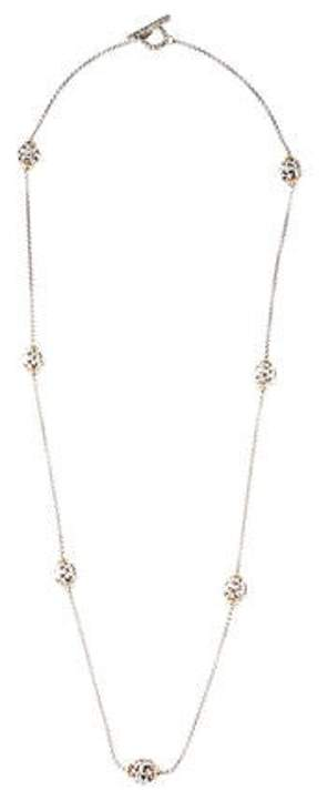 Charles Krypell Two-Tone Ivy Bead Necklace silver Two-Tone Ivy Bead Necklace