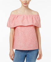Kensie Off-The-Shoulder Flounce Top