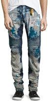 Robin's Jeans Distressed Slim-Fit Moto Jeans, Blue
